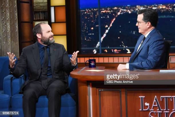 The Late Show with Stephen Colbert and guest Tom Segura during Tuesday's March 27 2018 show