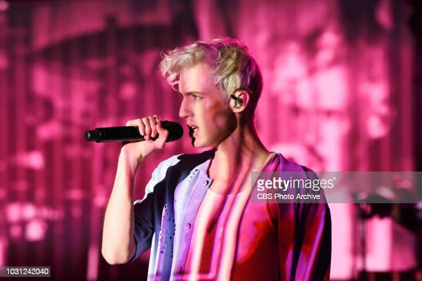 The Late Show with Stephen Colbert and guest Troye Sivan during Thursday's September 6 2018 show