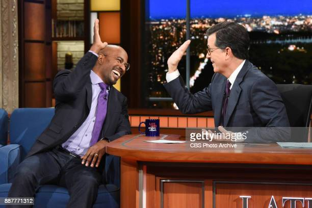 The Late Show with Stephen Colbert and guest Van Jones during Tuesday's December 5 2017 show