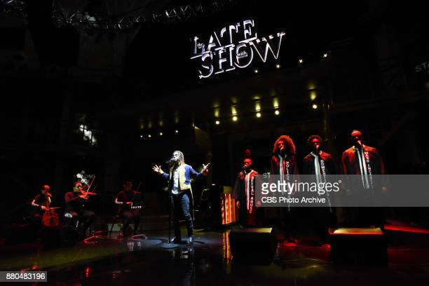 The Late Show with Stephen Colbert and guest Vic Mensa during Tuesday's November 20 2017 show