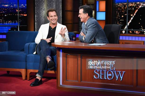 The Late Show with Stephen Colbert and guest Will Arnett during Tuesday's July 10 2018 show