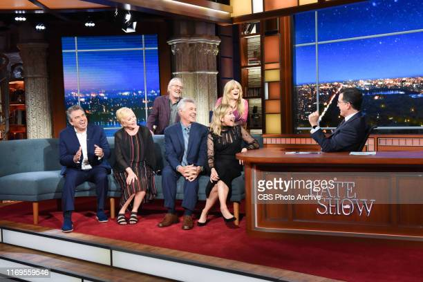 The Late Show with Stephen Colbert and guests Barry Williams Maureen McCormick Christopher Knight Eve Plumb Mike Lookinland Susan Olsen during...