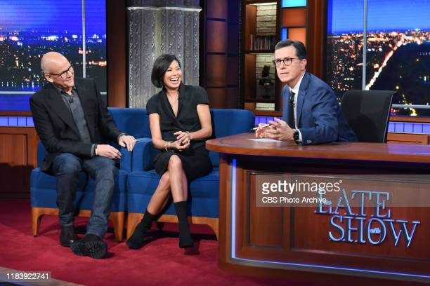 The Late Show with Stephen Colbert and guests John Heilemann and Alex Wagner during Wednesday's November 20 2019 show