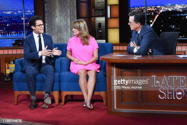 The Late Show with Stephen Colbert and guests Katy Tur and Jacob Soboroff during Tuesday's July 30 2019 show