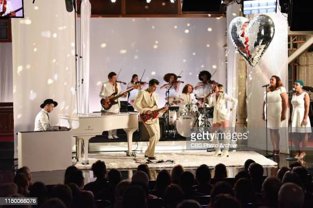 The Late Show with Stephen Colbert and guests Mark Ronson and Lykke Li during Thursday's June 13 2019 show