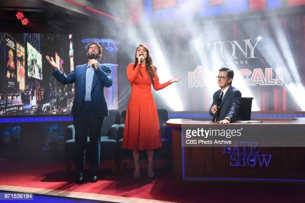 The Late Show with Stephen Colbert and guests Sara Bareilles Josh Groban during Wednesday's June 6 2018 show