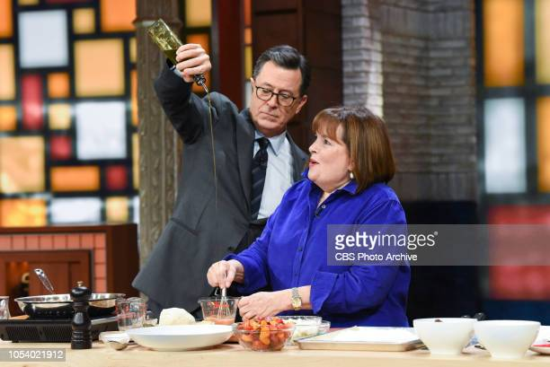 The Late Show with Stephen Colbert and Ina Garten during Wednesday's October 24 2018 show