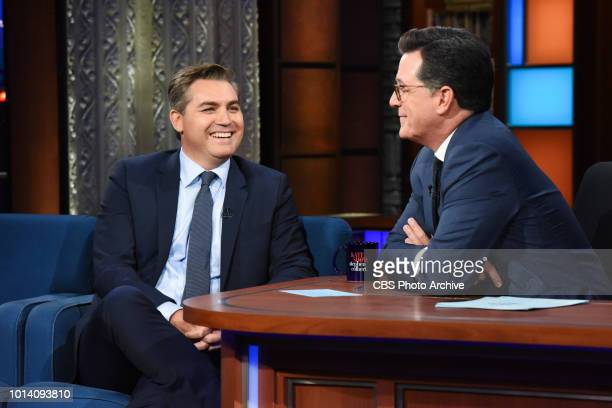The Late Show with Stephen Colbert and Jim Acosta during Wednesday's August 8 2018 show