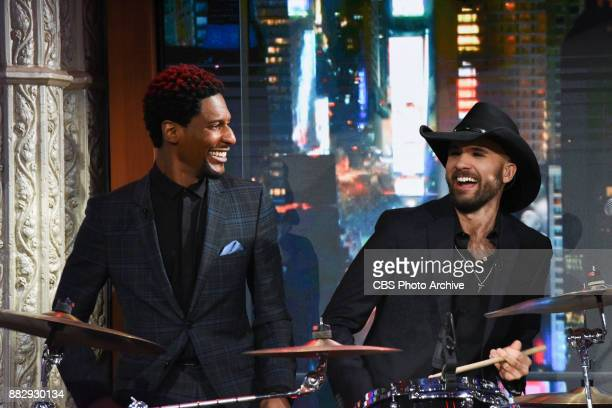 The Late Show with Stephen Colbert and Jon Batiste and Joe Saylor during Wednesday's November 29 2017 show