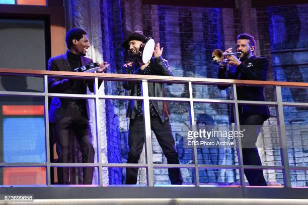 The Late Show with Stephen Colbert and Jon Batiste Joe Saylor Jon Lampley of Stay Human during Thursday's November 9 2017 show