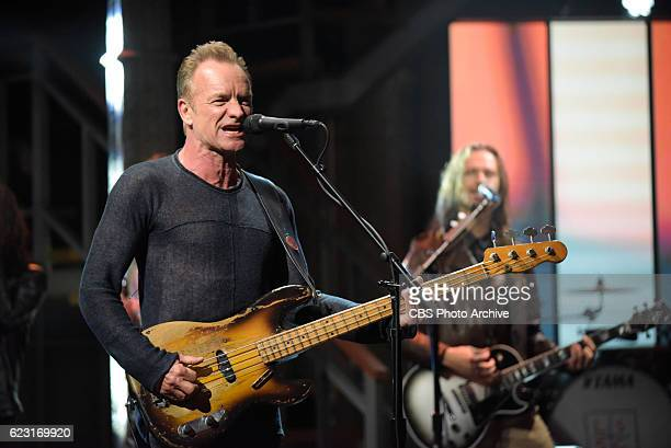 The Late Show with Stephen Colbert and musical guest Sting during Thursday's 11/10/16 show in New York