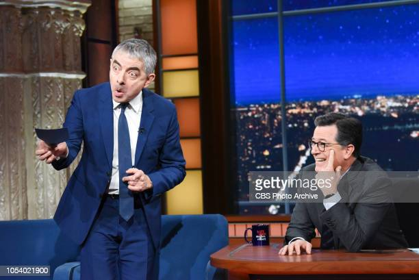 The Late Show with Stephen Colbert and Rowan Atkinson during Wednesday's October 24 2018 show