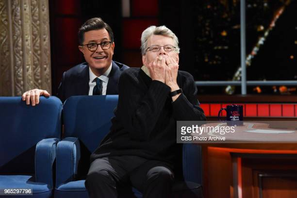 The Late Show with Stephen Colbert and Stephen King during Wednesday's May 23 2018 show