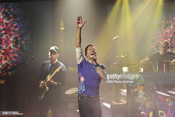 The Late Show with Stephen Colbert Coldplay and Chris Martin perform during Tuesday's 5/17/16 show taped in New York