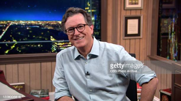 The Late Show with Stephen Colbert during Monday's August 10, 2020 show. Image is a screen grab.
