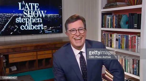 The Late Show with Stephen Colbert during Monday's March 30, 2020 show. Image is a screen grab.