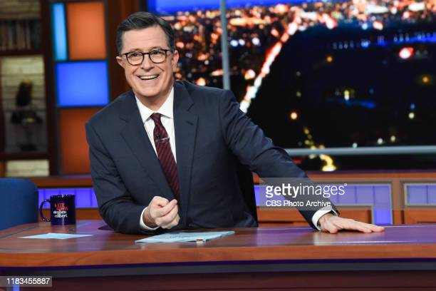 The Late Show with Stephen Colbert during Monday's November 18, 2019 show.