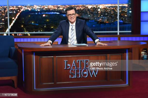 The Late Show with Stephen Colbert during Monday's September 9, 2019 show.