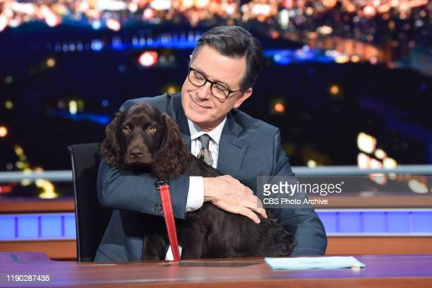The Late Show with Stephen Colbert during Thursday's December 19, 2019 show.