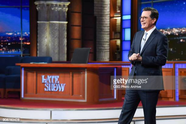The Late Show with Stephen Colbert during Thursday's January 18 2018 show