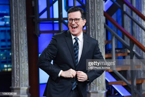 The Late Show with Stephen Colbert during Thursday's January 24 2019 show