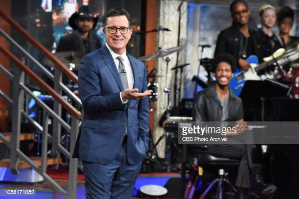 The Late Show with Stephen Colbert during Thursday's November 1 2018 show
