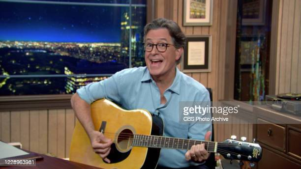 The Late Show with Stephen Colbert during Thursday's October 1, 2020 show. Image is a screen grab.