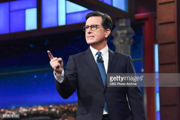 The Late Show with Stephen Colbert during Tuesday's January 30 2018 show