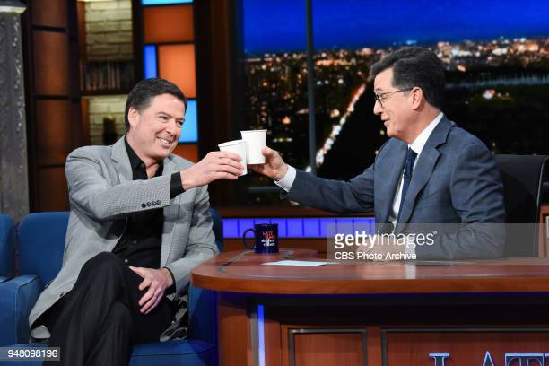 The Late Show with Stephen Colbert guest James Comey during Tuesday's April 17 2018 show