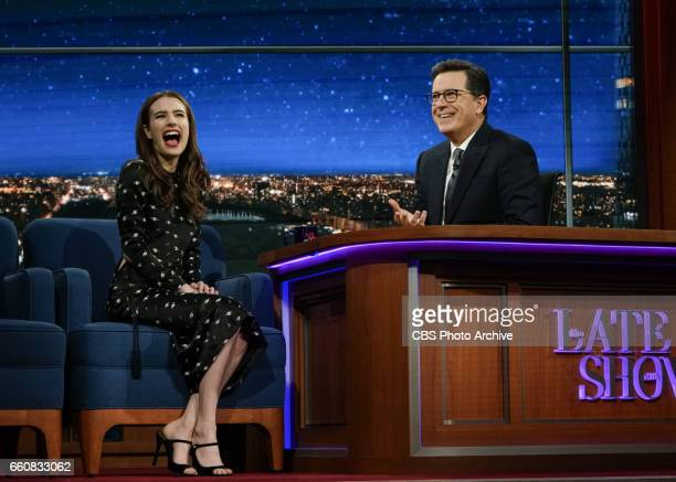 The Late Show with Stephen Colbert Interviews with Emma Roberts and Ken Jeong plus interview with and musical performance by Luke Bryan Dierks...