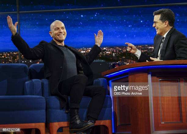 The Late Show with Stephen Colbert interviews with Ewan McGregor Finn Wittrock and musical performance by The Shins on Monday's taping in New York...