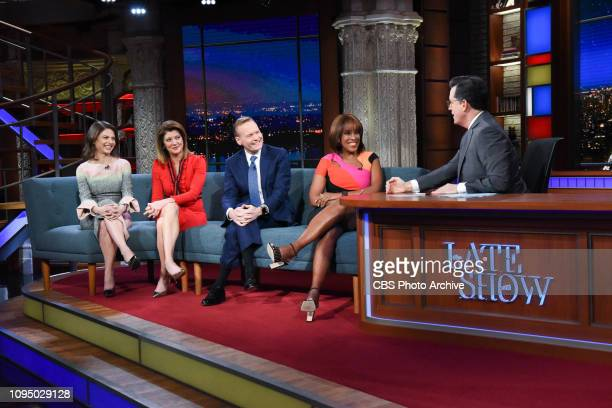 The Late Show with Stephen Colbert Live broadcast following the State of the Union with guests Norah O'Donnell John Dickerson Gayle King Bianna...