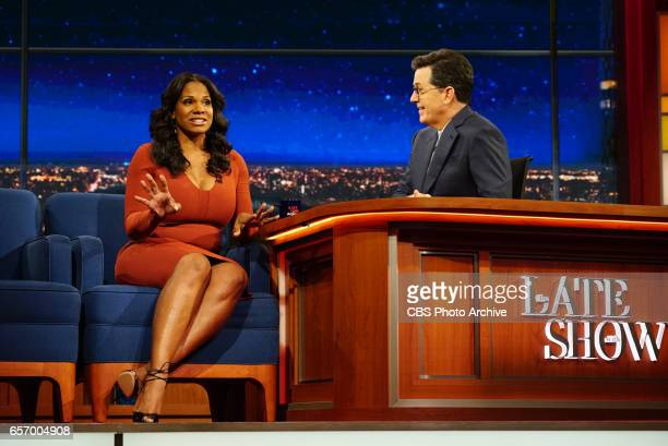 The Late Show with Stephen Colbert on Monday March 20 2017 with guest Audra McDonald