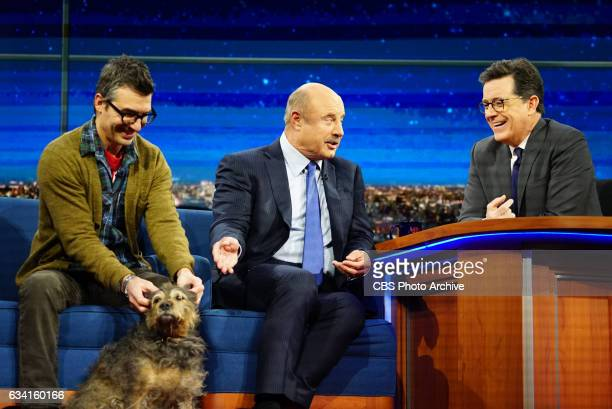 The Late Show with Stephen Colbert on Wednesday February 1 2017 with guests Dr Phil executive producer of the CBS drama series BULL Michael Bolton...