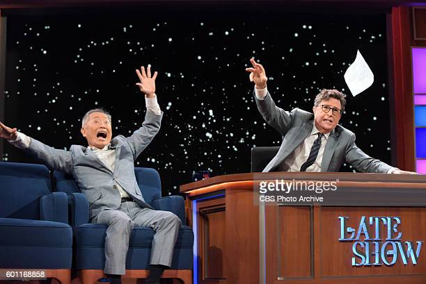 The Late Show With Stephen Colbert Stephen Colbert during Thursday's 9/8/16 show taping in New York With guest George Takei