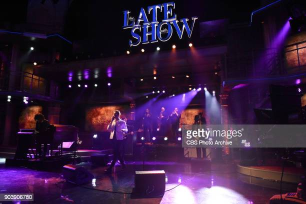 The Late Show with Stephen Colbert with guest Anderson East during Tuesday's January 9 2018 show