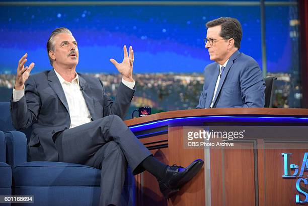 The Late Show With Stephen Colbert With guest Chris Noth during Thursday's 9/1/16 taping in New York
