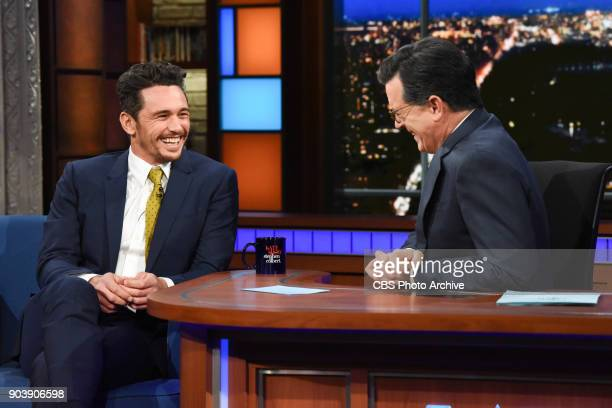 The Late Show with Stephen Colbert with guest James Franco during Tuesday's January 9 2018 show