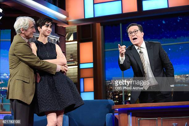 The Late Show with Stephen Colbert with guest Katherine and Sam Waterston during Monday's 11/7/16 show in New York