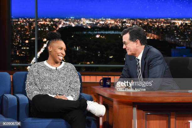 The Late Show with Stephen Colbert with guest Lena Waithe during Tuesday's January 9 2018 show