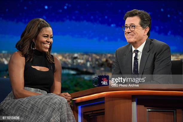 The Late Show With Stephen Colbert With guest Michelle Obama during Tuesday's 9/20/16 show in New York