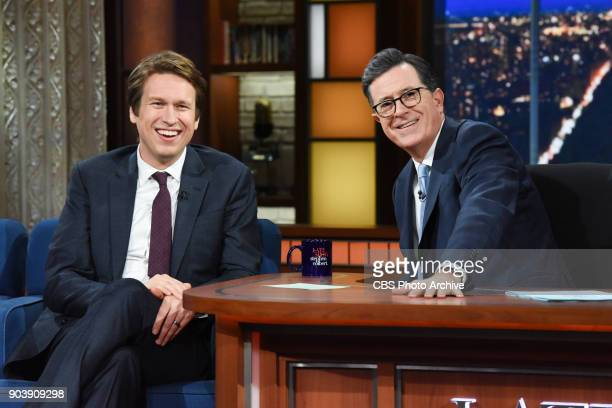 The Late Show with Stephen Colbert with guest Pete Holmes during Wednesday's January 10 2018 show