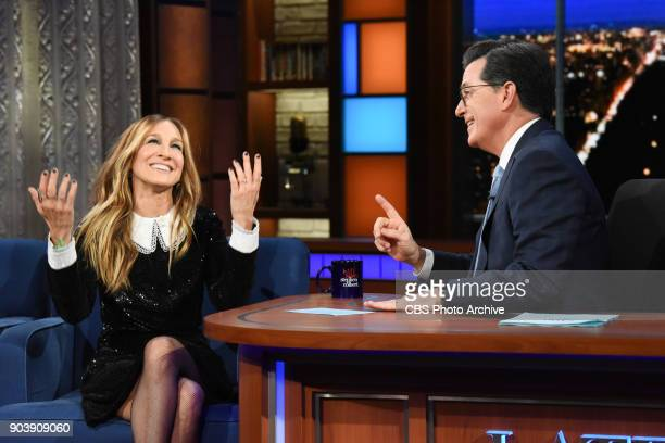 The Late Show with Stephen Colbert with guest Sarah Jessica Parker during Wednesday's January 10 2018 show