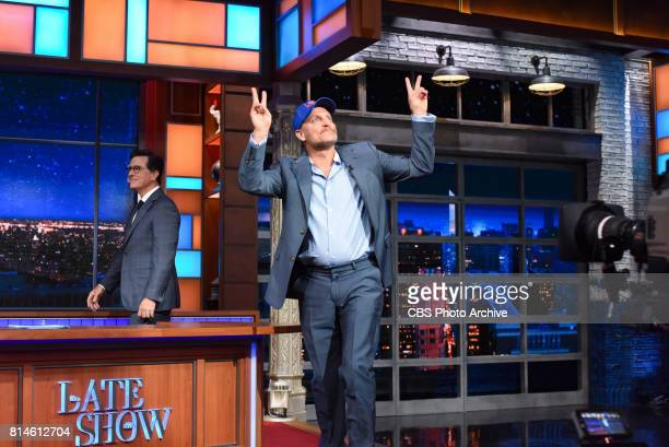 The Late Show with Stephen Colbert with guest Woody Harrelson during Monday's July 10 2017 show