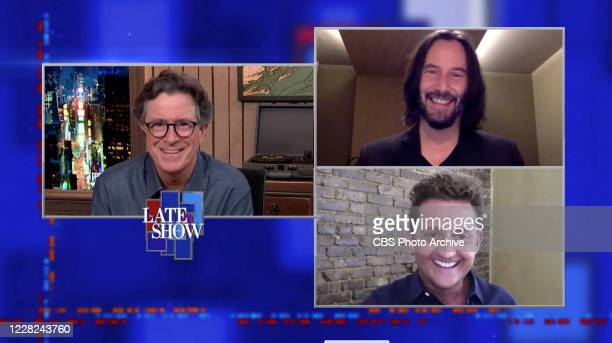 The Late Show with Stephen Colbert with Keanu Reeves and Alex Winter during Tuesday's August 25, 2020 show. The Late Show will broadcast LIVE during...