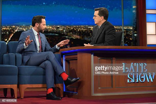 The Late Show with Stephen Colbert with Nick Kroll during Wednesday's 11/2/16 show in New York