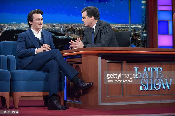 The Late Show with Stephen Colbert with Rupert Friend during Friday's 1/13/17 show in New York