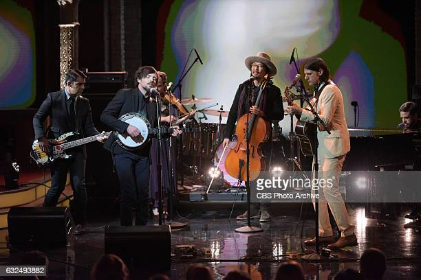 The Late Show with Stephen Colbert with The Avett Brothers during Friday's 01/20/16 show in New York