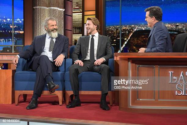 The Late Show with Stephen Colbert with The Mel Gibson and Luke Bracey during Tuesday's 11/1/16 show in New York