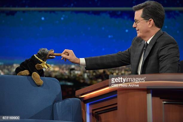 The Late Show with Stephen Colbert with Triumph the Insult Comic Dog during Wednesday's 11/9/16 show in New York